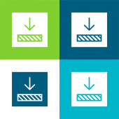 Ausrichtung Flache vier Farben Minimalsymbolsatz
