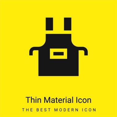 Apron minimal bright yellow material icon stock vector