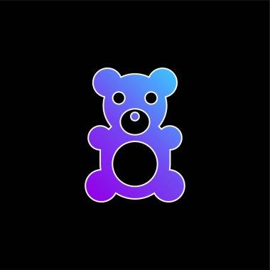 Bear blue gradient vector icon stock vector