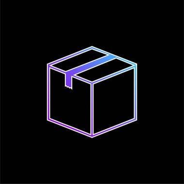 Box Closed blue gradient vector icon stock vector