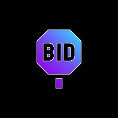Bidding blue gradient vector icon stock vector