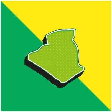 Algeria Green and yellow modern 3d vector icon logo stock vector