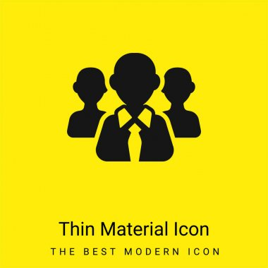 Boss With Tie minimal bright yellow material icon stock vector
