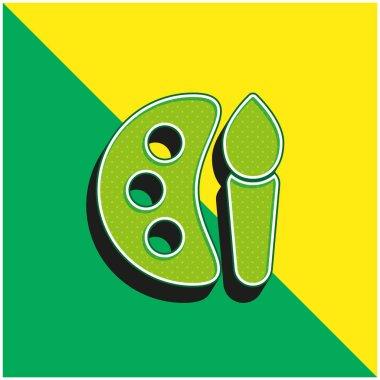 Art Green and yellow modern 3d vector icon logo stock vector
