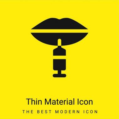 Botox minimal bright yellow material icon stock vector