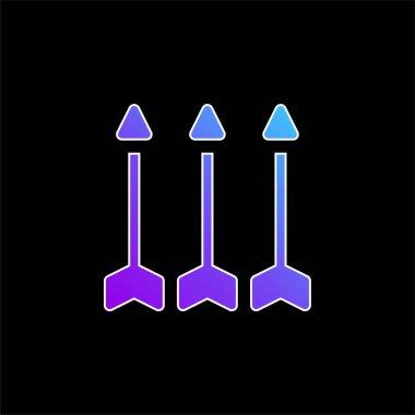 Arrows blue gradient vector icon stock vector