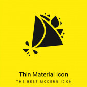 Kytice minimální jasně žlutý materiál ikona