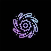 Vektorová ikona modrého přechodu černé díry