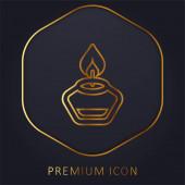 Aromatherapy golden line premium logo or icon
