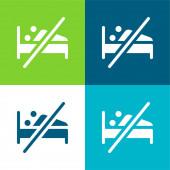 Abstinenz Flache vier Farben minimales Symbol-Set