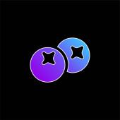 Berries blue gradient vector icon