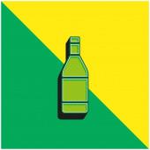 Láhev Zelená a žlutá moderní 3D vektorové logo
