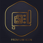 Architecture golden line premium logo or icon