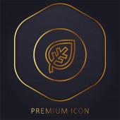 Biologische goldene Linie Premium-Logo oder Symbol