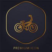 Zlaté prémiové logo nebo ikona jízdního kola
