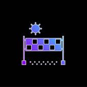 Beach Volejbal modrý gradient vektor ikona