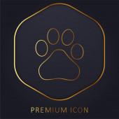 Baidu arany vonal prémium logó vagy ikon
