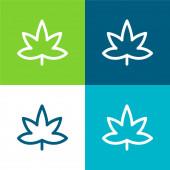 Big Mapple Leaf Flaches Vier-Farben-Minimalsymbolset