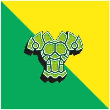 Armor Green and yellow modern 3d vector icon logo stock vector