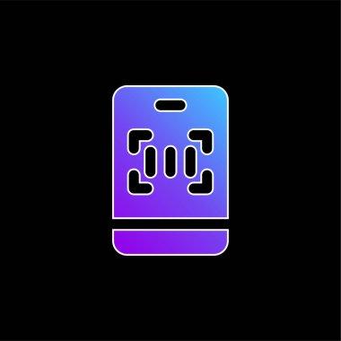 Barcode blue gradient vector icon stock vector