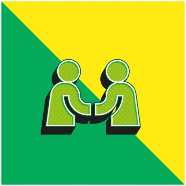 Agreement Green and yellow modern 3d vector icon logo stock vector