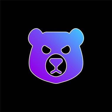 Bear Head blue gradient vector icon stock vector