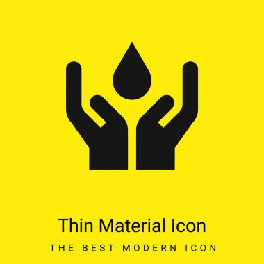 Blood minimal bright yellow material icon stock vector