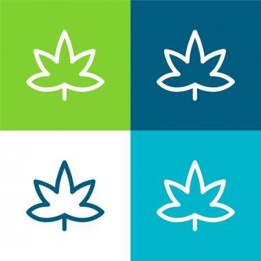 Big Mapple Leaf Flat four color minimal icon set stock vector