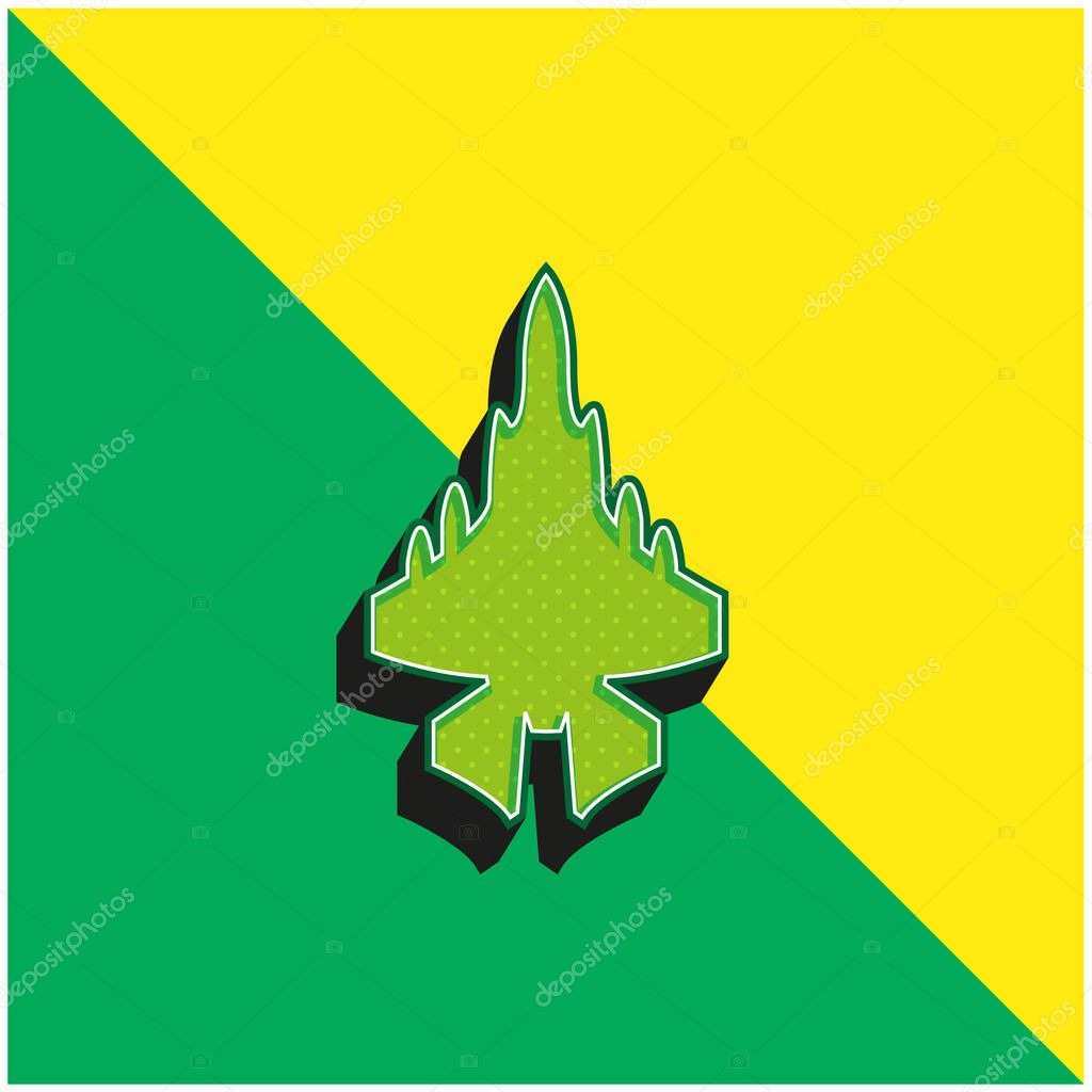 Army Airplane Green and yellow modern 3d vector icon logo stock vector