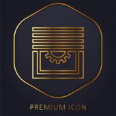 Oslepí prémiové logo nebo ikonu zlaté čáry