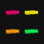Gürtel vier Farben leuchtenden Neon-Vektor-Symbol