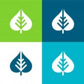Bodhi Leaf Flat four color minimal icon set