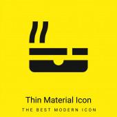 Aschenbecher minimal leuchtend gelbes Material Symbol