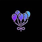 Ikona vektoru modrého přechodu balónu