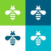 Bee Flat négy szín minimális ikon készlet