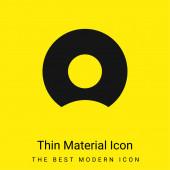 Bitten Donut minimal leuchtend gelbes Material Symbol