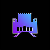 Ikona vektoru Alhambra blue gradient