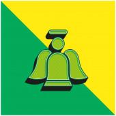 Angel Green a žluté moderní 3D vektorové logo