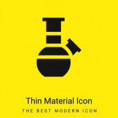 Bong minimális fényes sárga anyag ikon