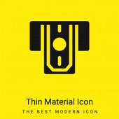 Bankomat Minimální jasně žlutá ikona materiálu
