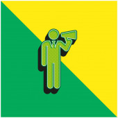 Boss Green a žluté moderní 3D vektorové logo