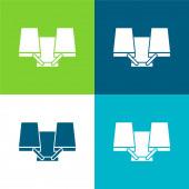 Art Tool Flat čtyři barvy minimální ikona nastavena