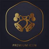 Zlaté zvonky prémiové logo nebo ikona