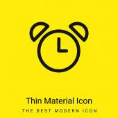 Alarm Hodiny starého designu minimální jasně žlutý materiál ikona