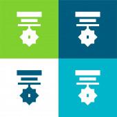 Odznak Byt čtyři barvy minimální ikona nastavena