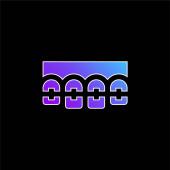 Brackets blue gradient vector icon