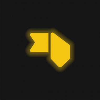 Bookmark yellow glowing neon icon stock vector