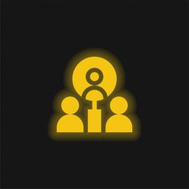 Best Employee yellow glowing neon icon stock vector