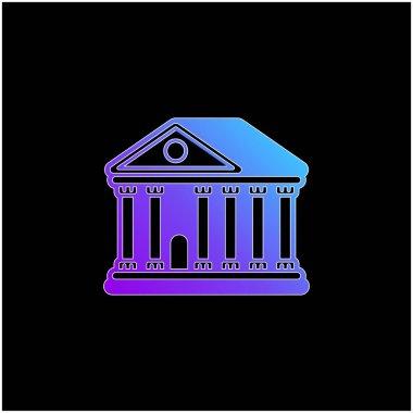 Bank blue gradient vector icon stock vector