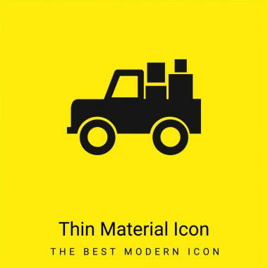 All Terrain Vehicle With Cargo minimal bright yellow material icon stock vector